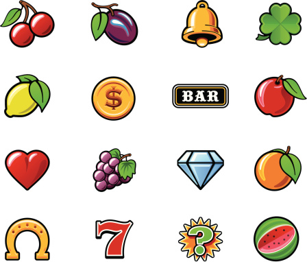 Slot machine symbols set