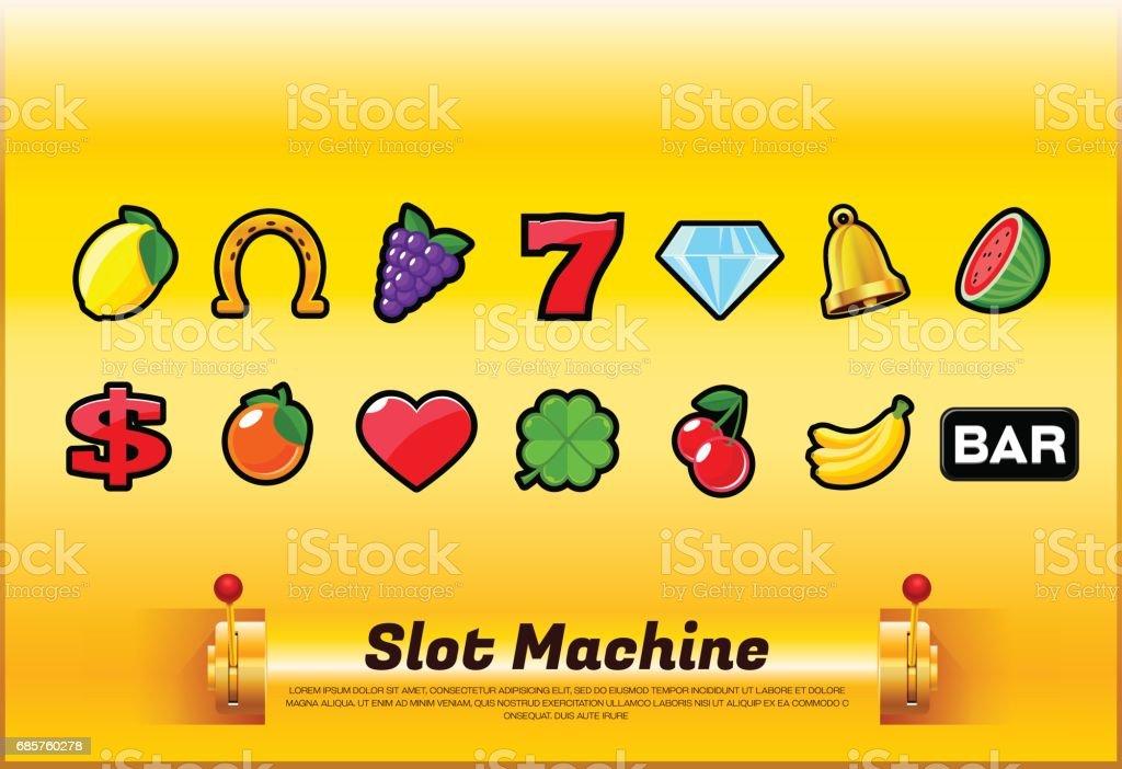 slot machine symbols slot machine symbols - immagini vettoriali stock e altre immagini di armi royalty-free