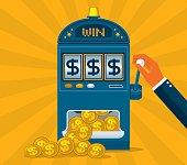 Business gambling with slot machine