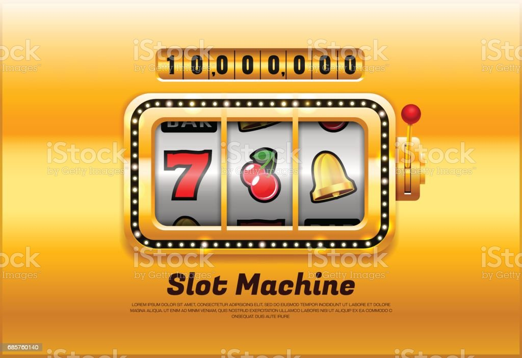 slot machine vector art illustration