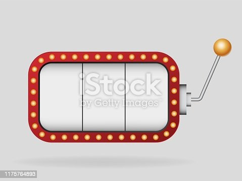 istock Slot machine vector template . 1175764893