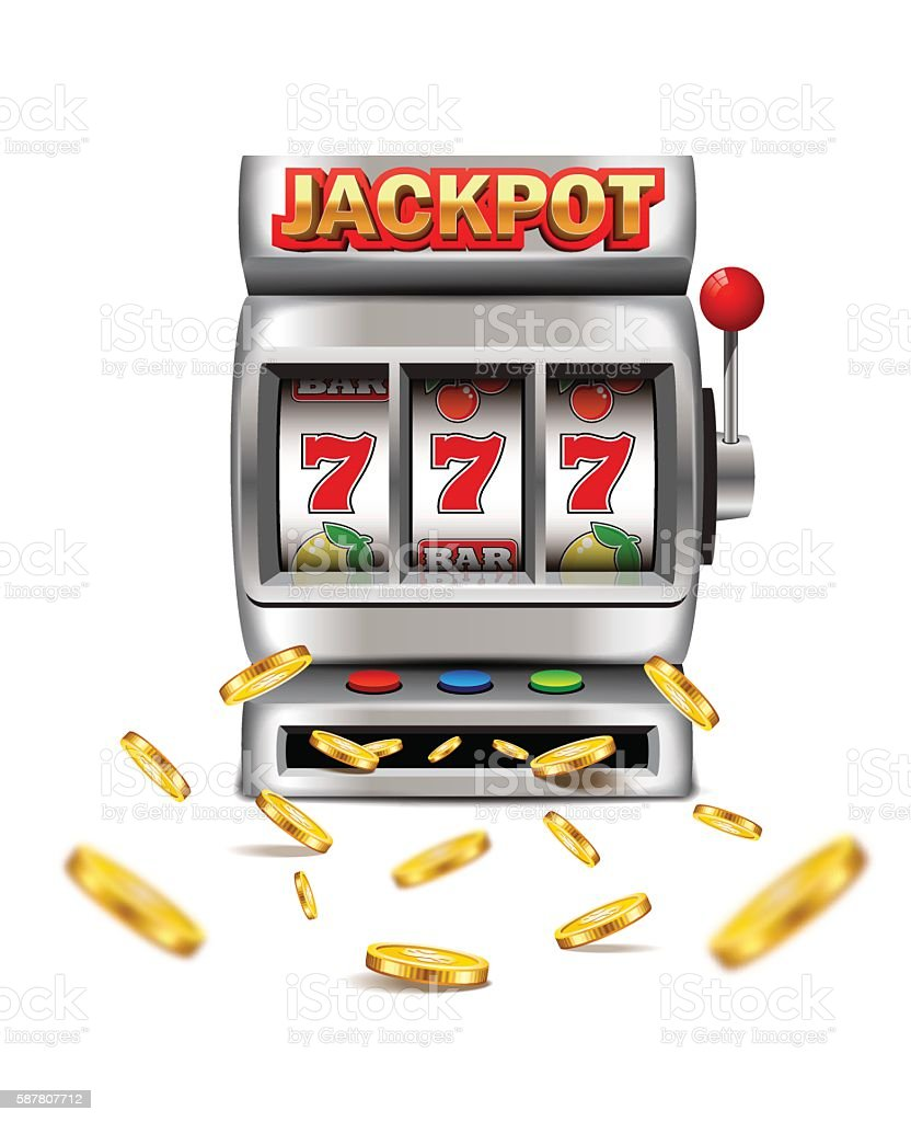 Slot machine with lucky seven. - Illustration vectorielle