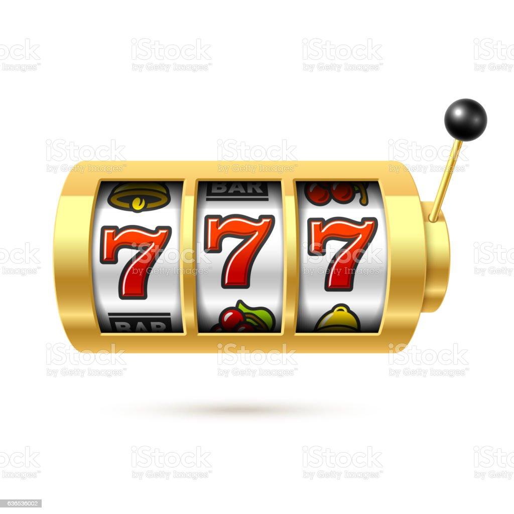 Slot machine with lucky sevens jackpot - Illustration vectorielle
