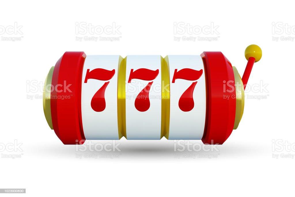Slot machine with lucky sevens jackpot. Vector illustration. Golden slot machine wins the jackpot. Vector illustration isolated on white background. Big win 777 lottery vector casino concept. vector art illustration