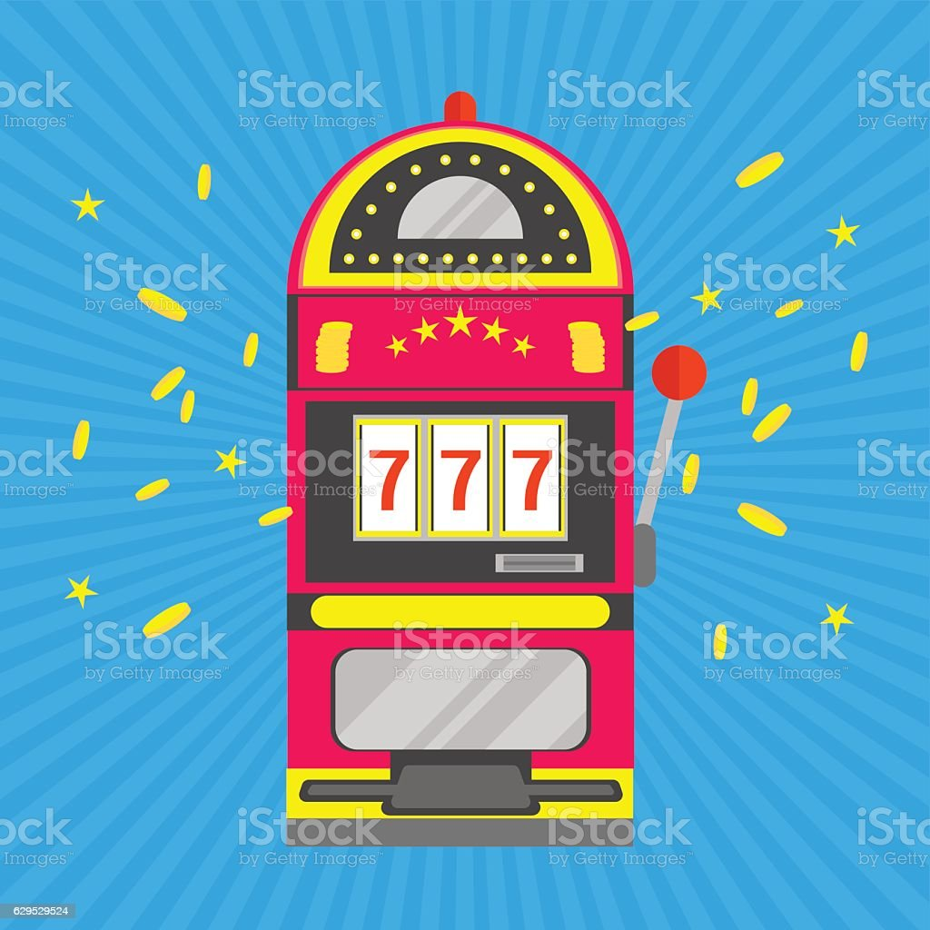 Slot Machine with One Arm Gambling. Vector - Illustration vectorielle