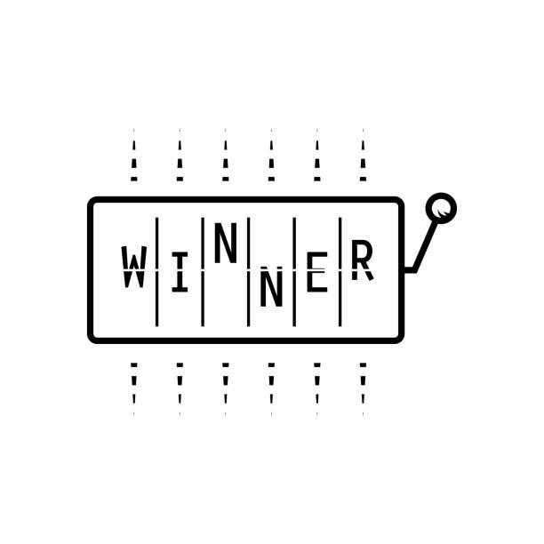 Machine à sous avec le mot gagnant chemise design vecteur - Illustration vectorielle