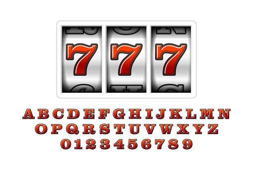 Slot machines retro font