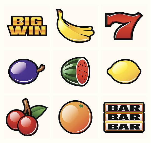 Slot symboles - Illustration vectorielle