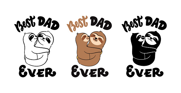 Sloth daddy and son- Best dad ever