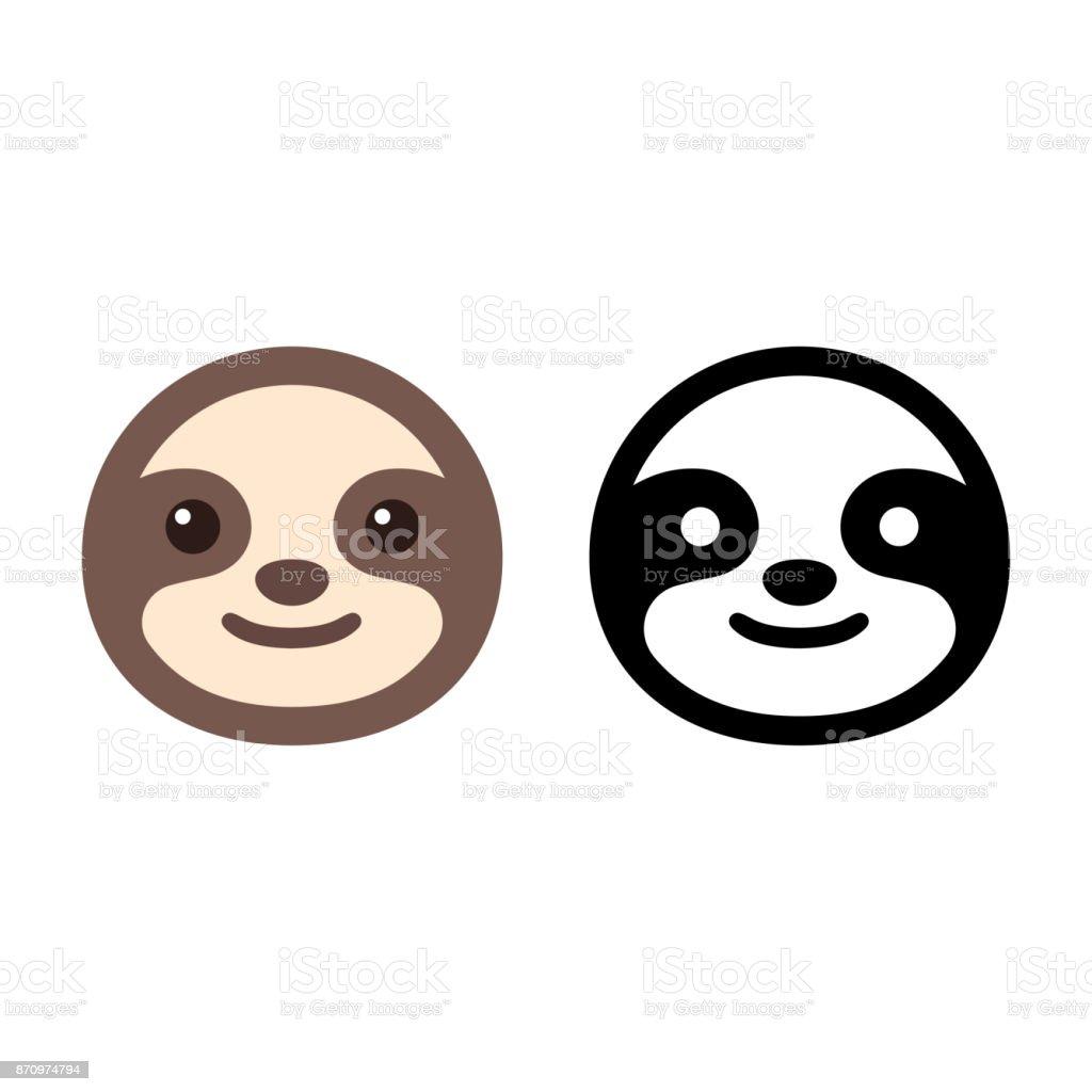 Icono de la cara de pereza - ilustración de arte vectorial