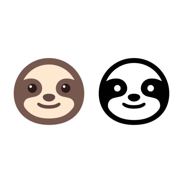 illustrations, cliparts, dessins animés et icônes de icône de visage de paresse - emoji paresseux