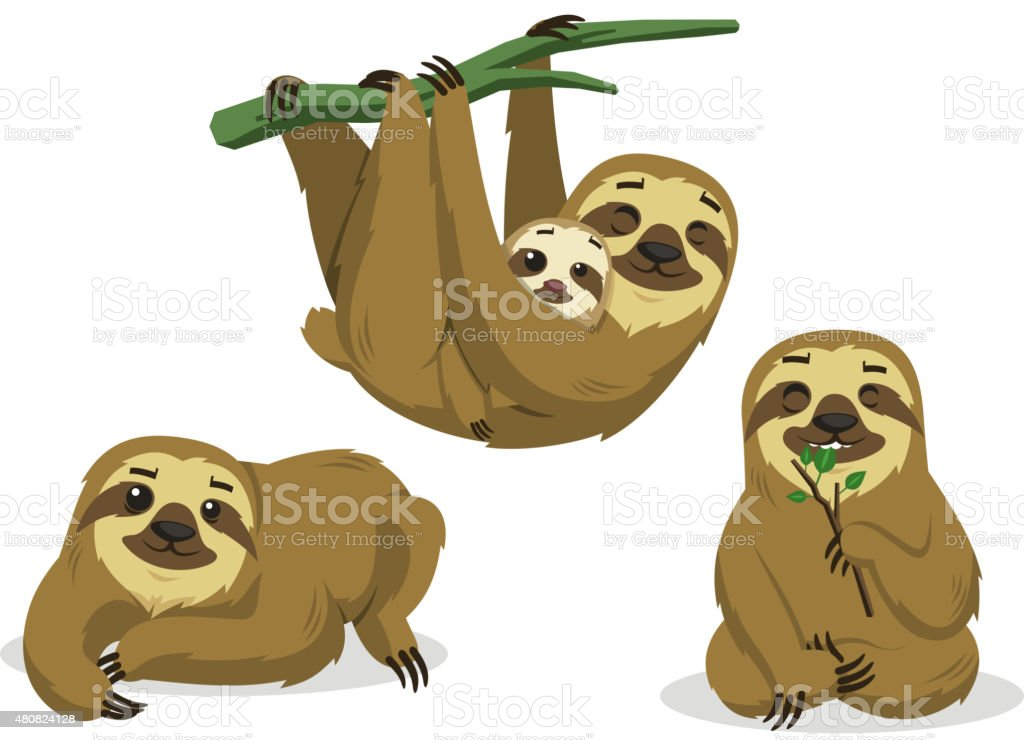 royalty free two toed sloth clip art vector images illustrations rh istockphoto com sloth clipart cute sloth clipart black and white