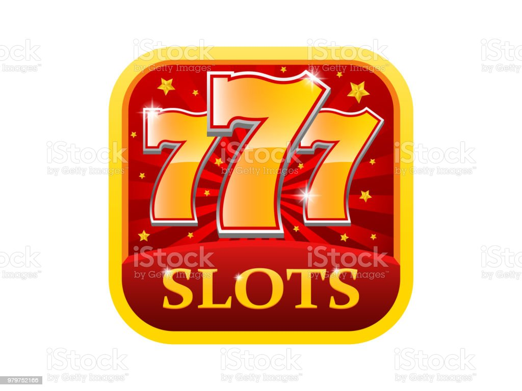 777 Slots Icon Win App Vector Icon vector art illustration
