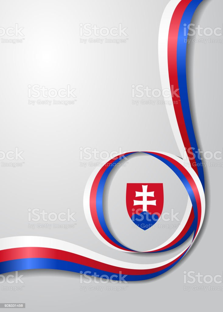 slovak flag wavy background vector illustration stock vector art