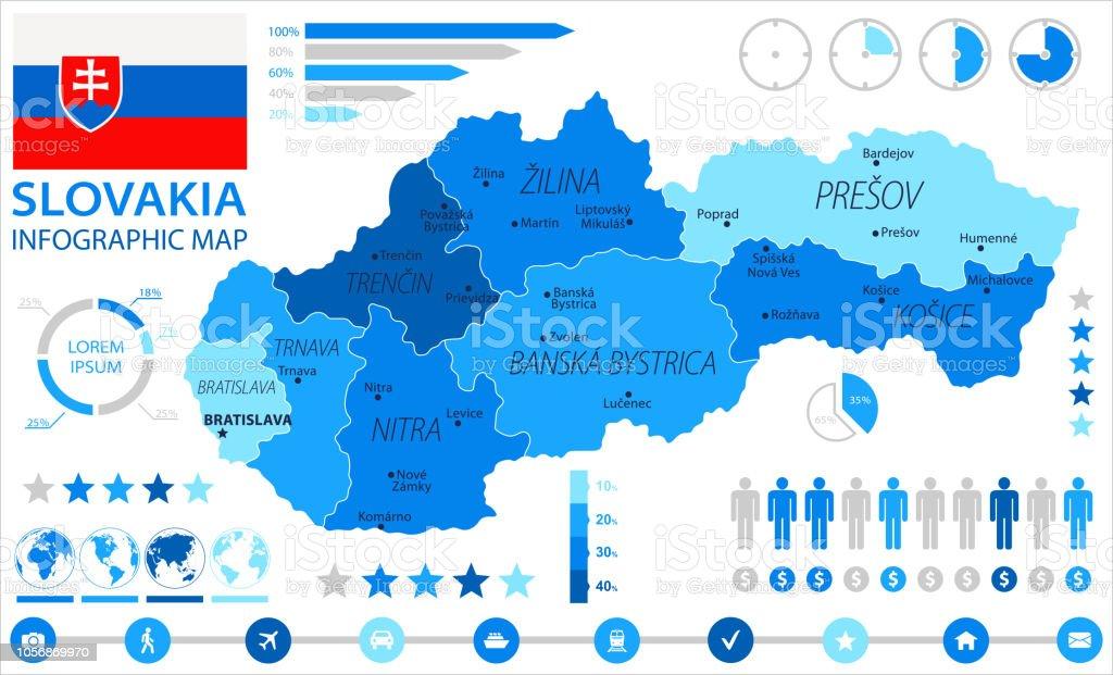 05 - Slovakia - Blue Spot Infographic 10 vector art illustration