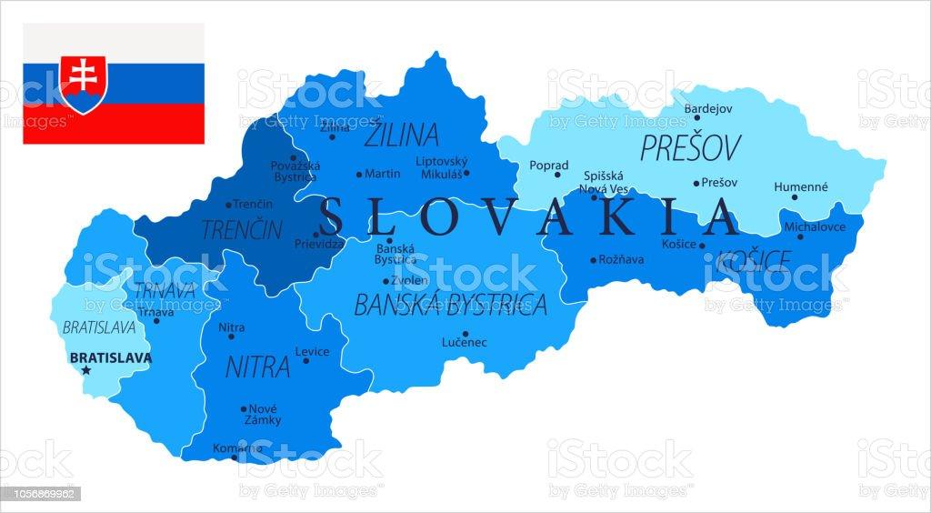 04 - Slovakia - Blue Spot Isolated 10 vector art illustration
