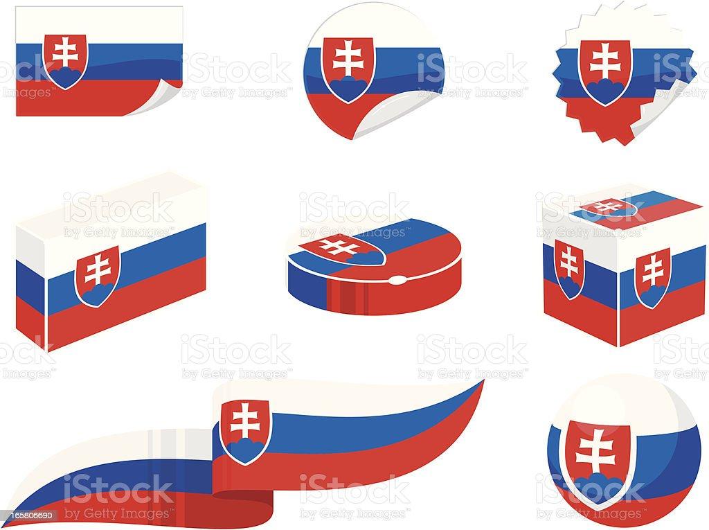 Slovakia Design Elements vector art illustration