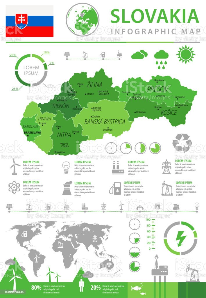 14 - Slovakia - Eco-Industry Info 10 vector art illustration