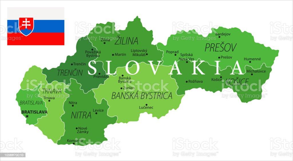 15 - Slovakia - Green Isolated 10 vector art illustration