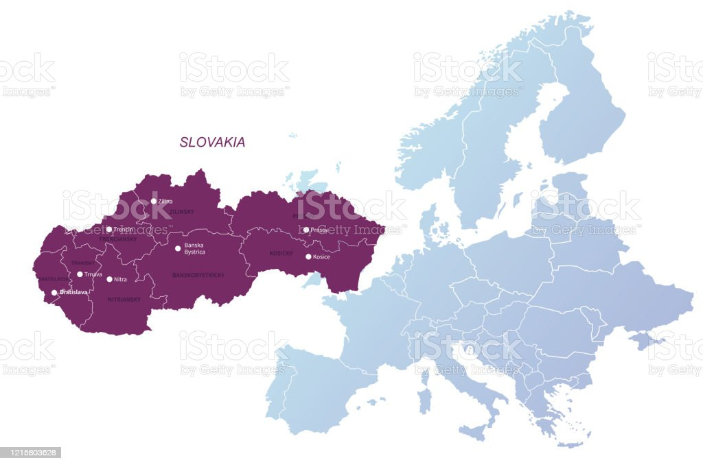 Picture of: Slovakia Map Vector Map Of Slovakia In Europe Stock Illustration Download Image Now Istock