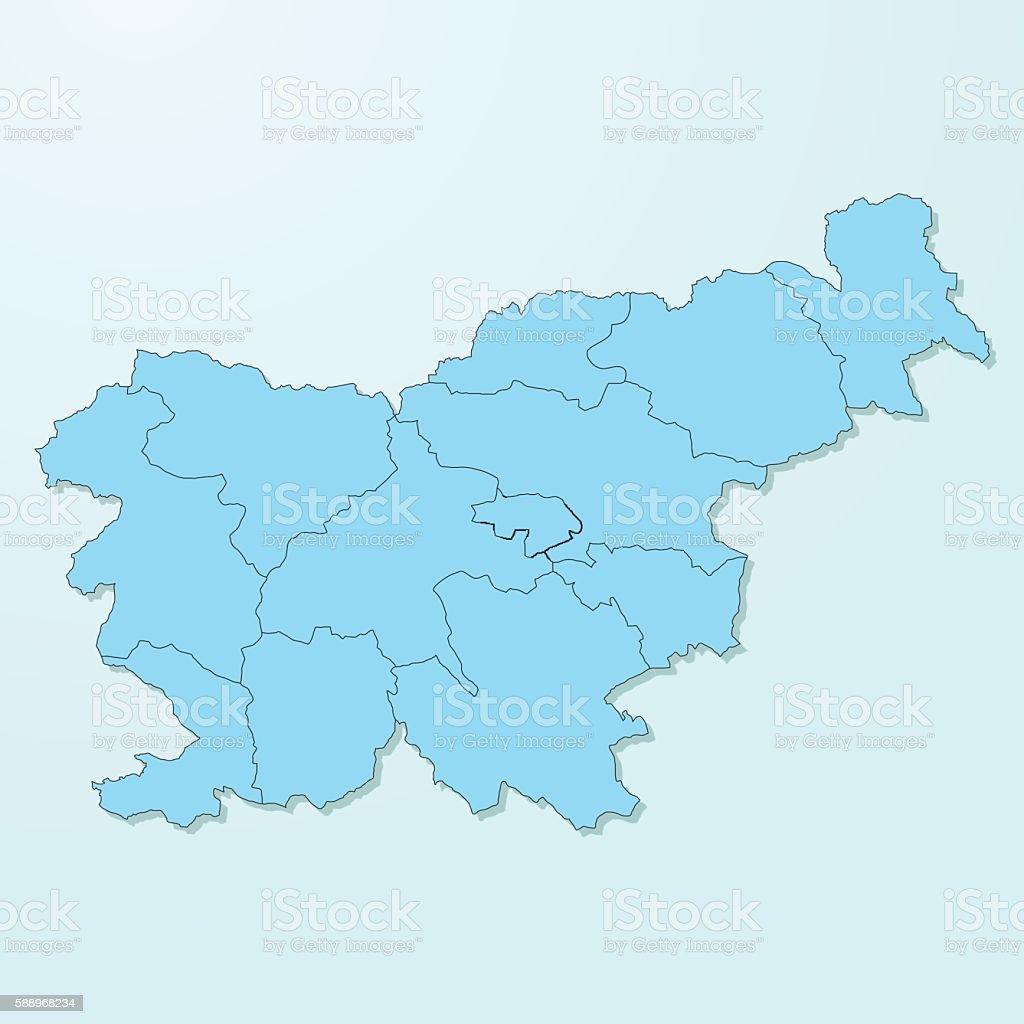 Slovenia blue map on degraded background vector vector art illustration