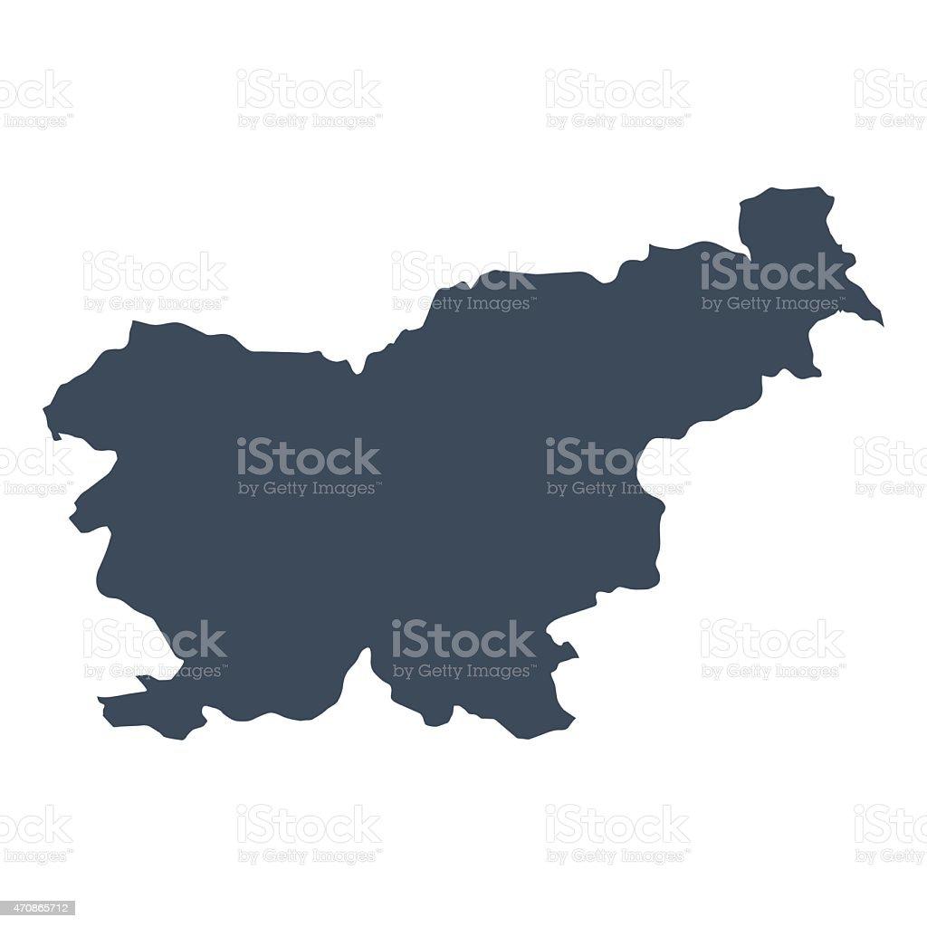Slovenia country map vector art illustration