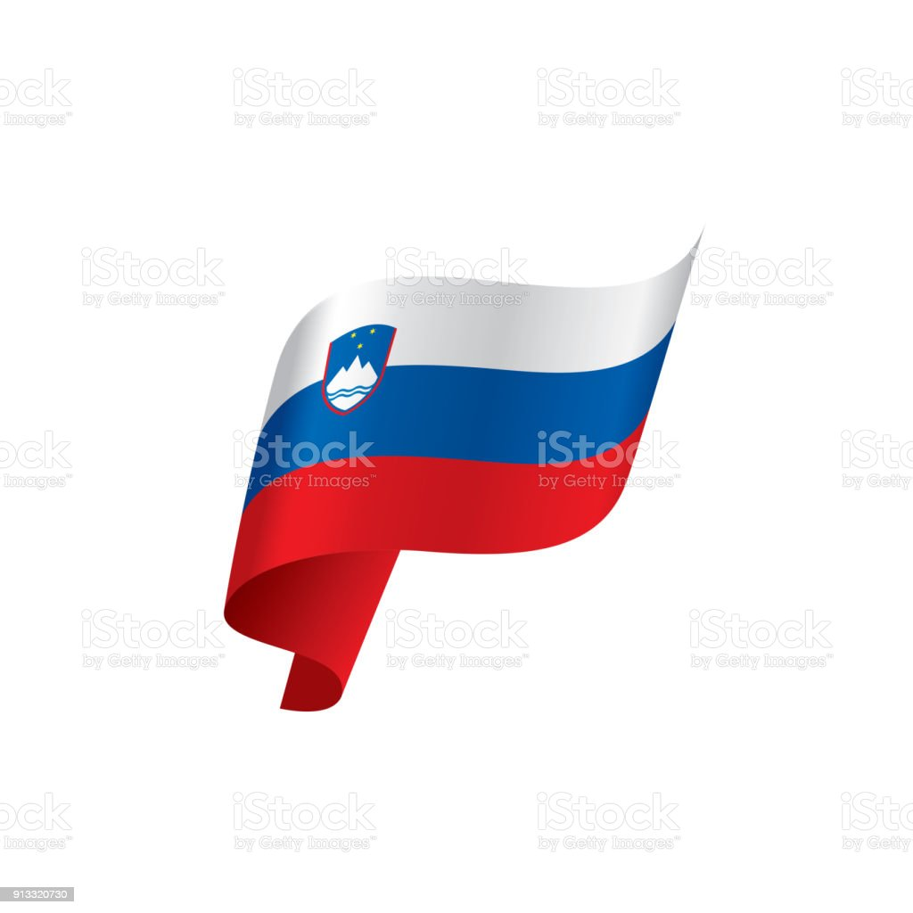 Slovenia flag, vector illustration vector art illustration