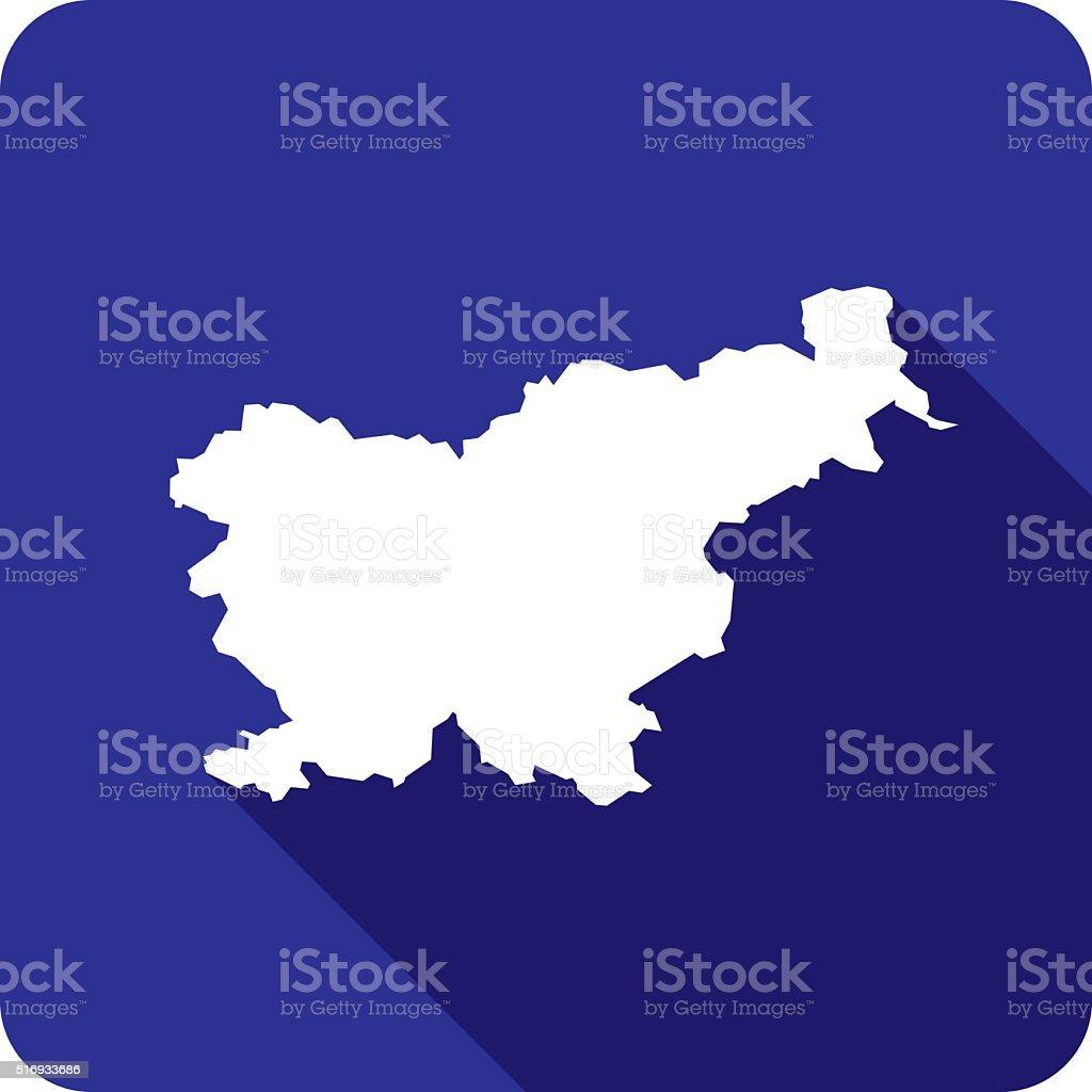 Slovenia Icon Silhouette vector art illustration