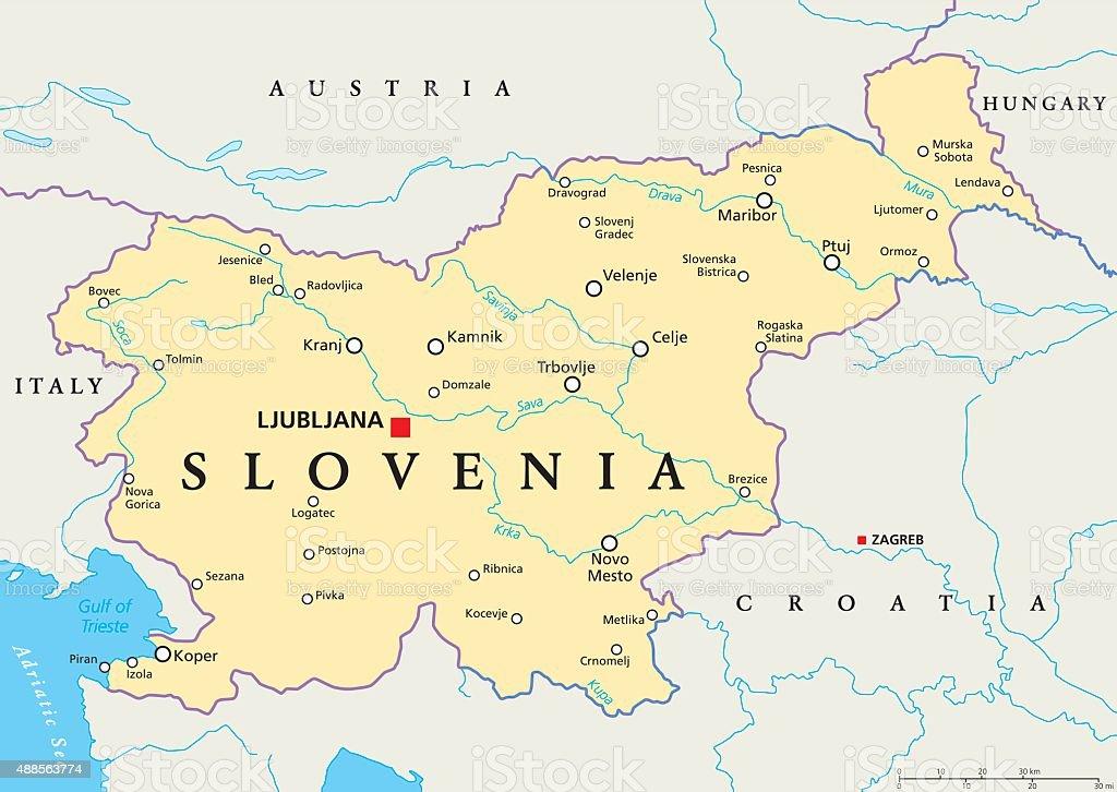 karte slowenien Slowenien Politische Karte Stock Vektor Art und mehr Bilder von