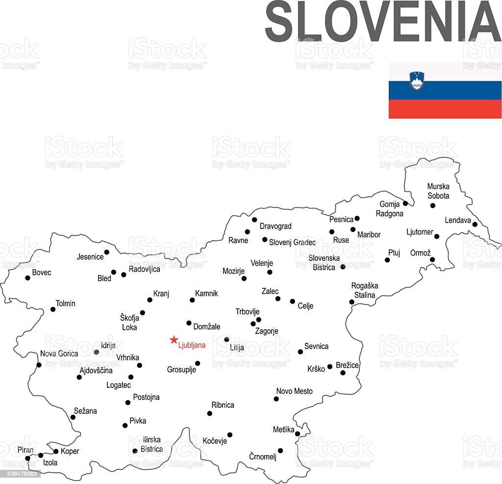 Slovenia vector art illustration