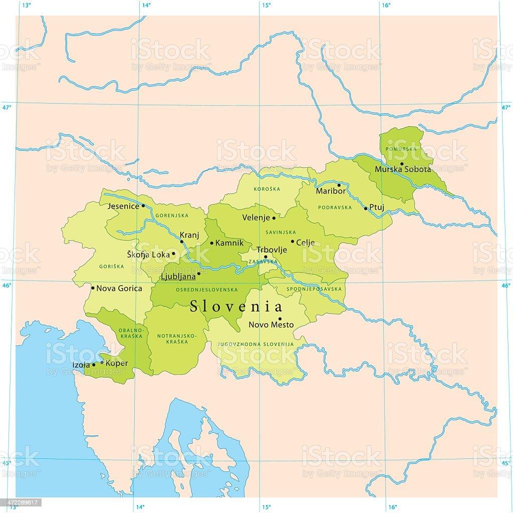 Slovenia Vector Map vector art illustration