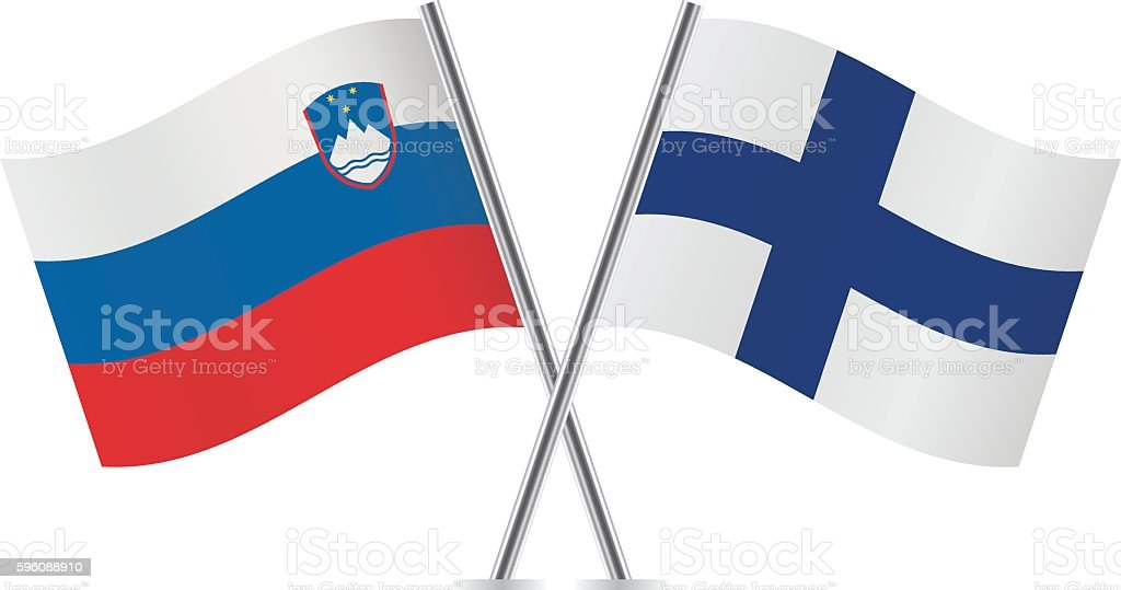 Slovenian and Finnish flags. Vector. royalty-free slovenian and finnish flags vector stock vector art & more images of banner - sign