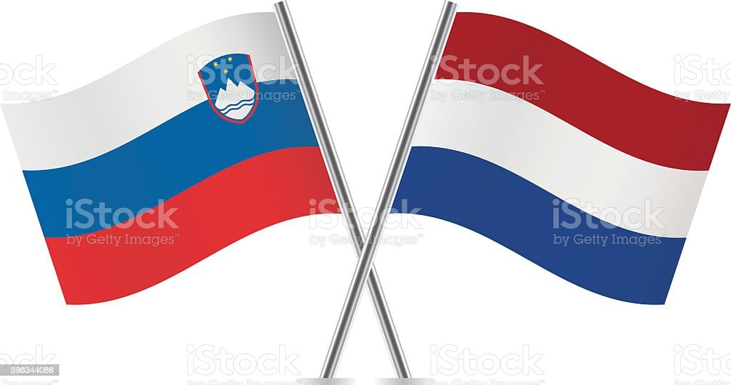 Slovenian and Netherlands flags. Vector. royalty-free slovenian and netherlands flags vector stock vector art & more images of banner - sign