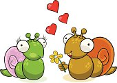 Two Snails in Love.