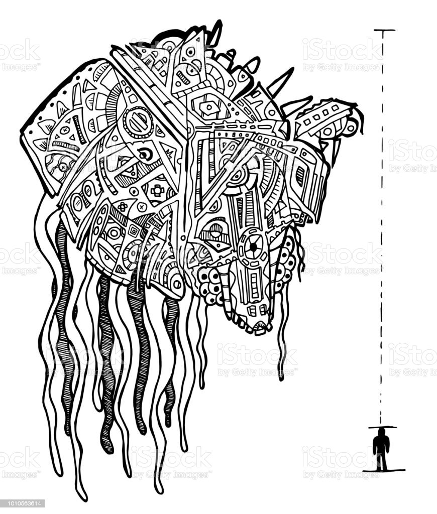 Slug Creature Coloring Page Royalty Free Stock Vector Art Amp