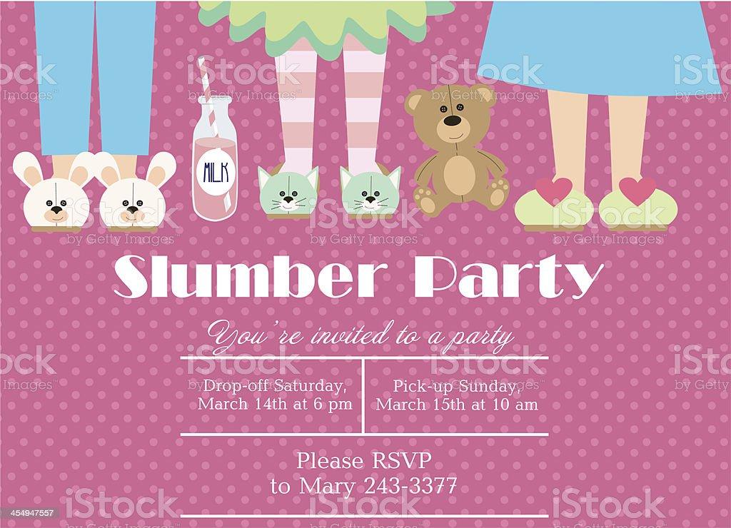 Slumber Party vector art illustration