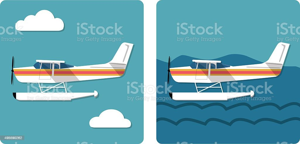 Small Amphibian Plane Stock Vector Art & More Images of ...