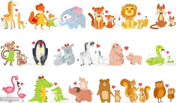 Small animals and their moms illustration set vector id917675526?b=1&k=6&m=917675526&s=612x612&h=kgwxzn4ywyw1gfb9ovzgzs7prko8mar9nuvx4875ttm=