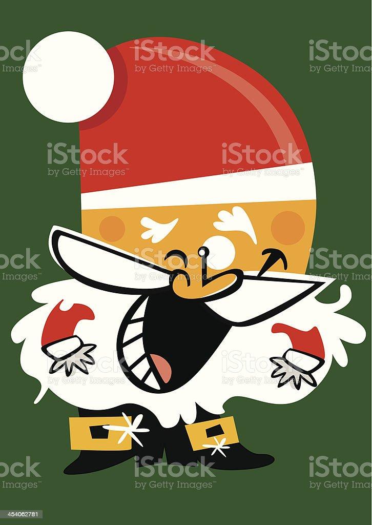 Small Avatar character of Santa Claus. royalty-free stock vector art