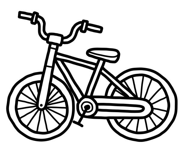 small bicycle vector art illustration