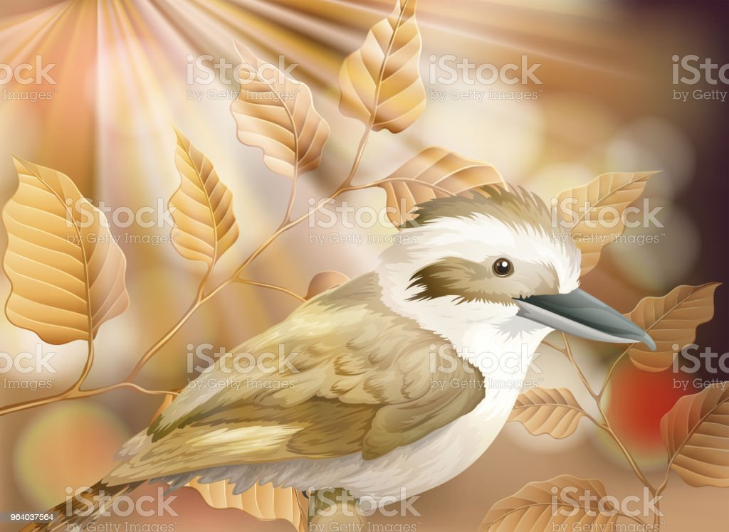 A Small Bird in Nature - Royalty-free Abstract stock vector