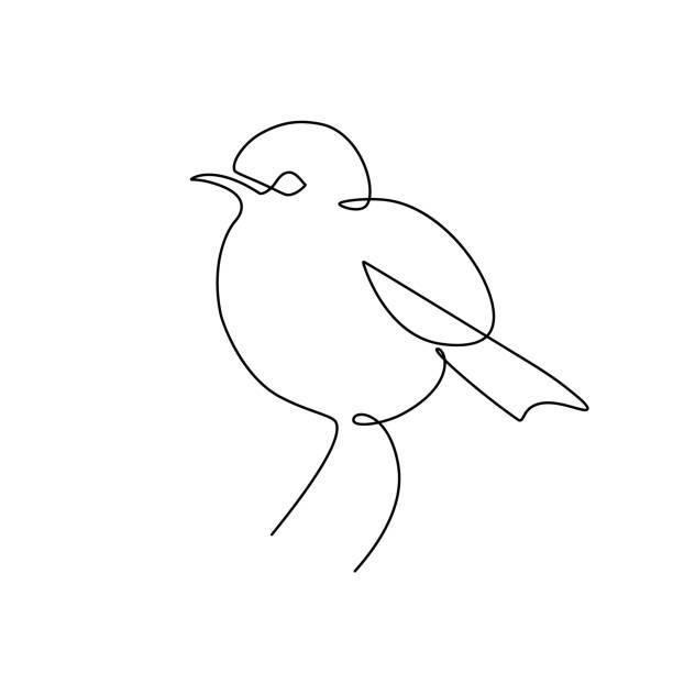 kleiner vogel - einzelnes tier stock-grafiken, -clipart, -cartoons und -symbole