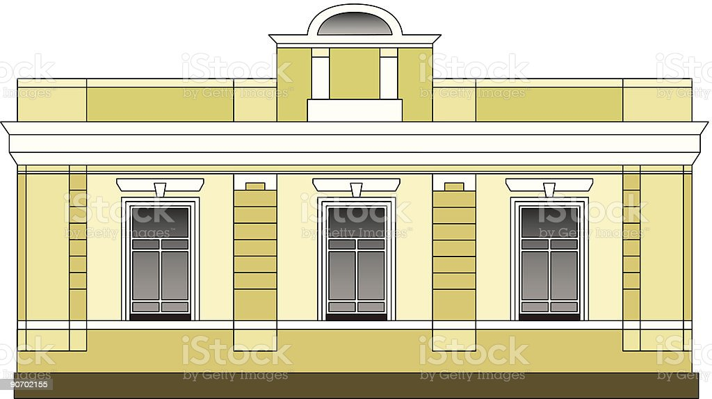 Small building royalty-free stock vector art