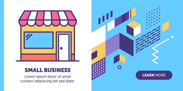 small business banner - small business stock illustrations