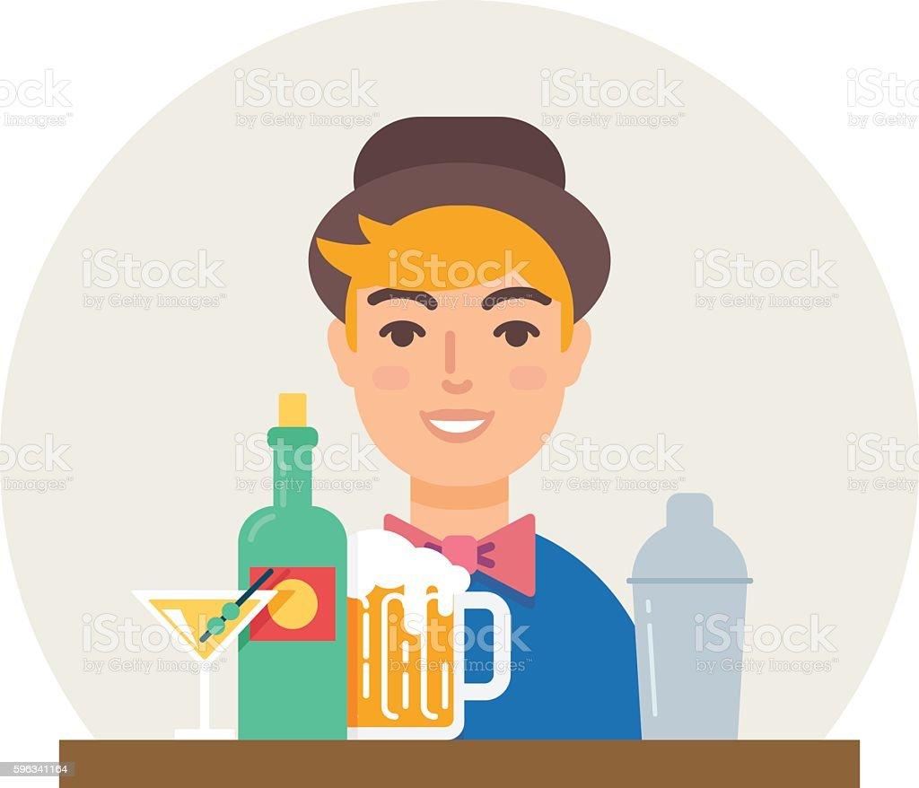 Small business - bar vector illustration flat style Lizenzfreies small business bar vector illustration flat style stock vektor art und mehr bilder von alkoholisches getränk