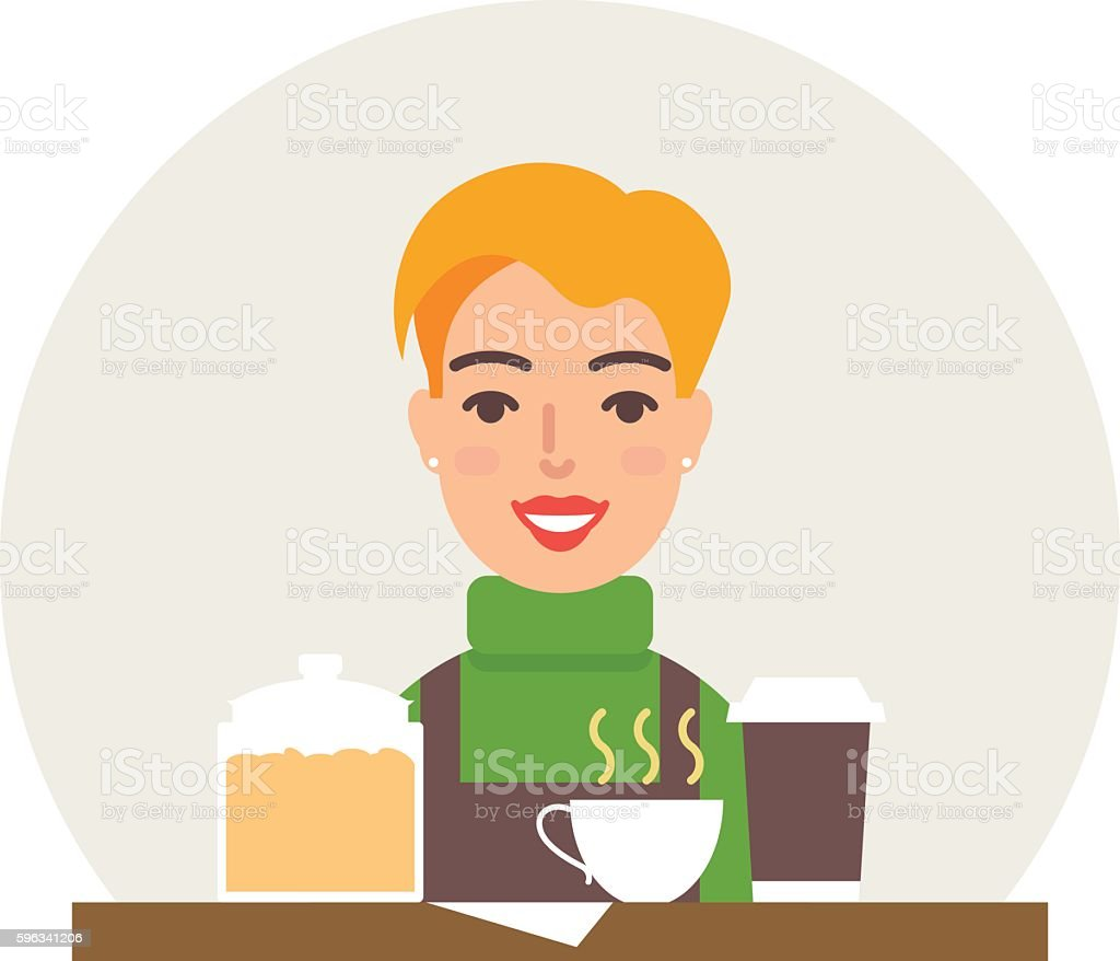 Small business - coffee shop vector illustration flat style Lizenzfreies small business coffee shop vector illustration flat style stock vektor art und mehr bilder von arbeiten