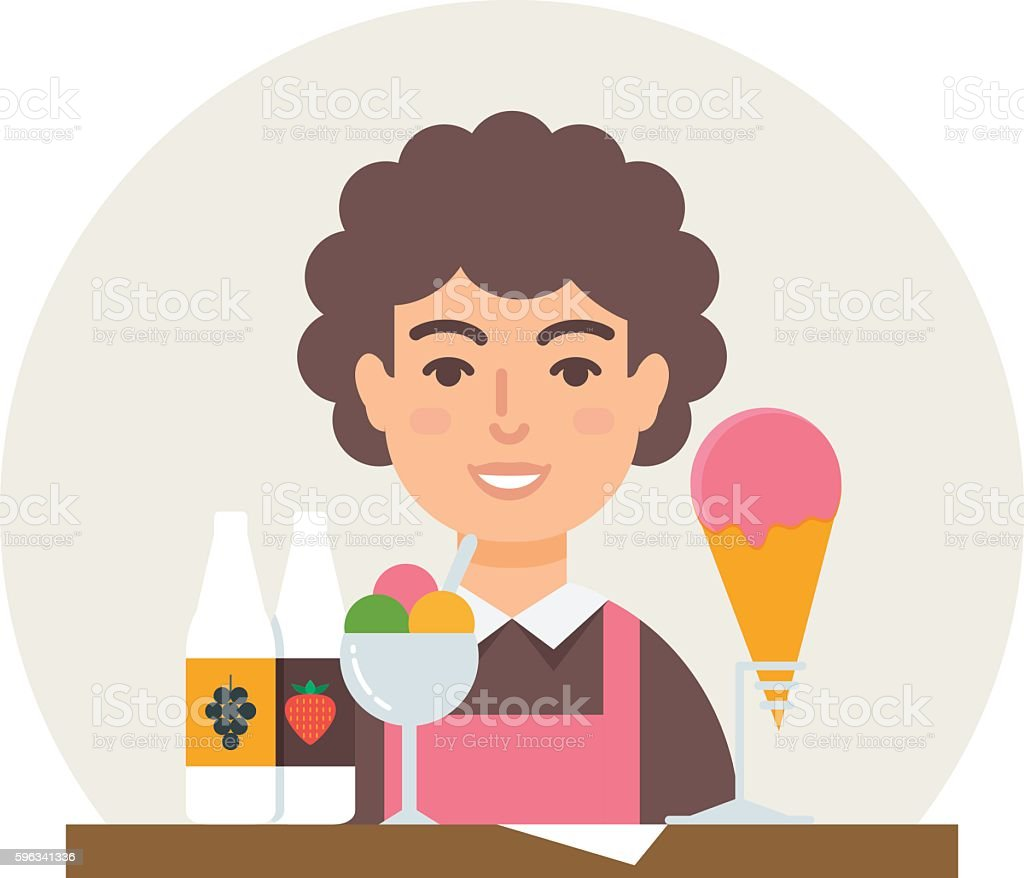 Small business - ice cream shop vector illustration flat style royalty-free small business ice cream shop vector illustration flat style stock vector art & more images of backgrounds