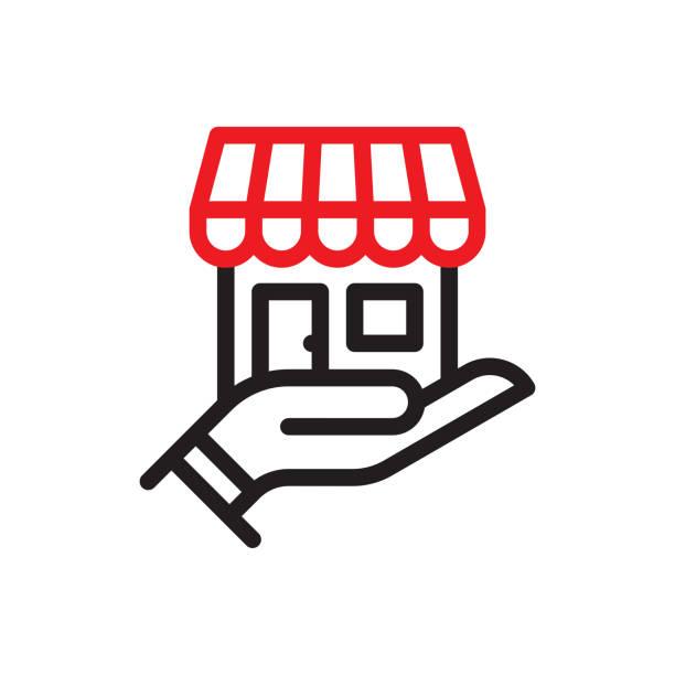 小型企業線圖示 - small business 幅插畫檔、美工圖案、卡通及圖標
