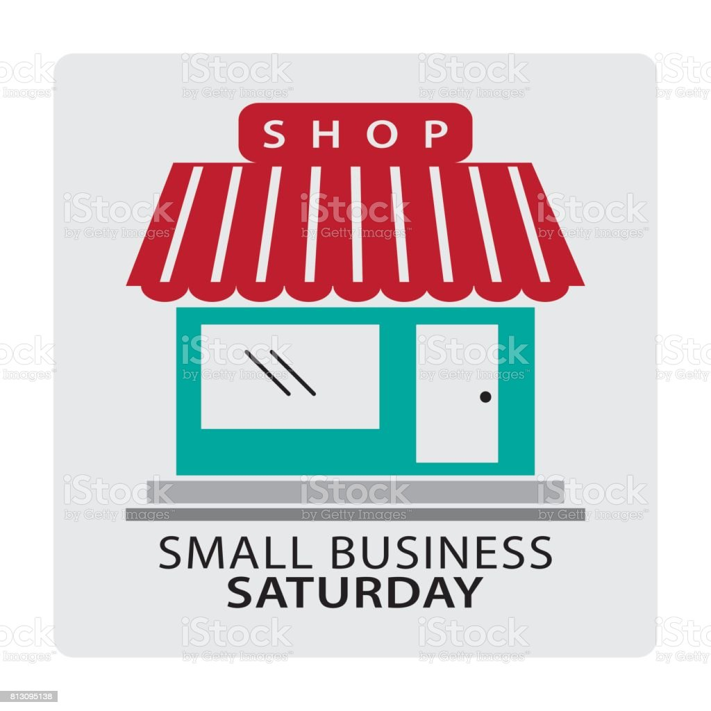Small Business Saturday - Grafika wektorowa royalty-free (Biznes finanse i przemysł)