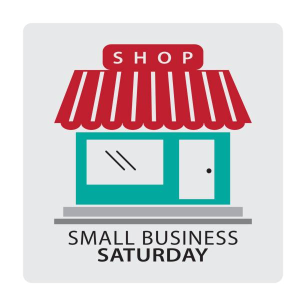 small business saturday - small business stock illustrations